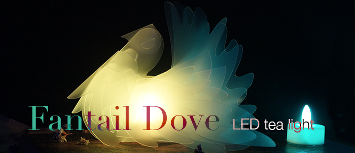 Fantail Dove LED tea light
