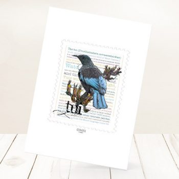 Tui print on card.