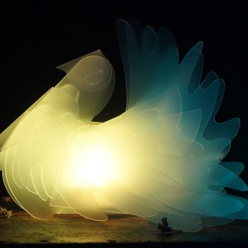 Fantail Dove LED table tea light