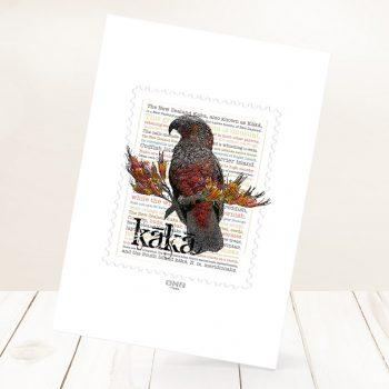 Kaka print on card.