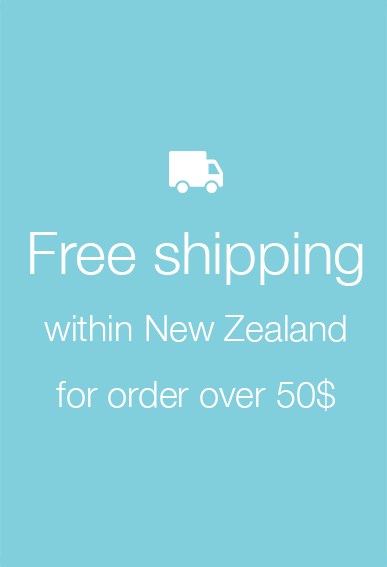 Free shipping within New Zealand for order over 50$