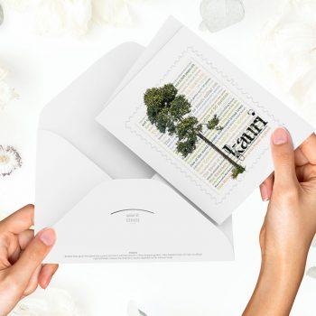 Card on desk-Kauri